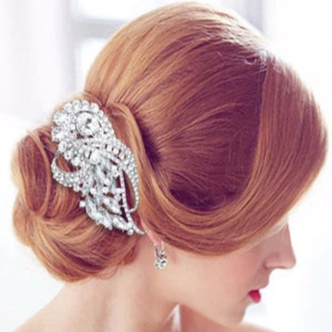 Bridal Hair Brooch Rhinestone  HBR-009