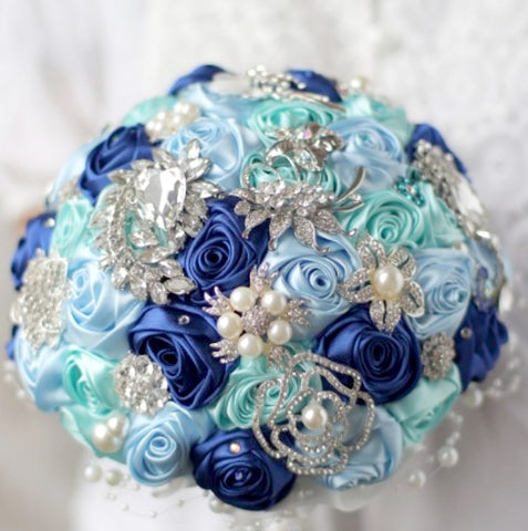 DIY Kit Satin Roses Brooch Bouquet KIT- BESS