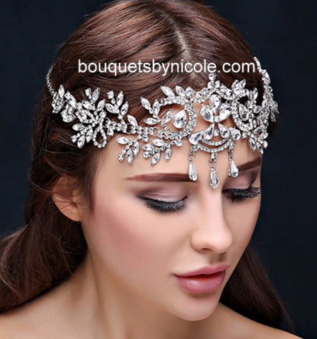 Bridal Hair Brooch Rhinestone HBR-003