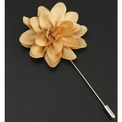 Fabric Flower Boutonniere, Lapel Pin Formal Wear Wedding Prom BOUT- CHIFFON