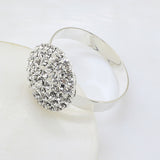 10pcs. Rhinestone Brooch Napkin Rings Scroll