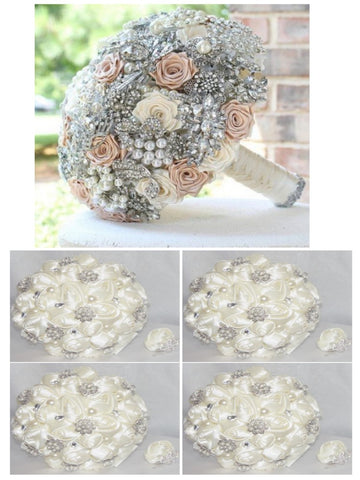 SHELBY ~ Create Your Package Satin Roses Bouquet