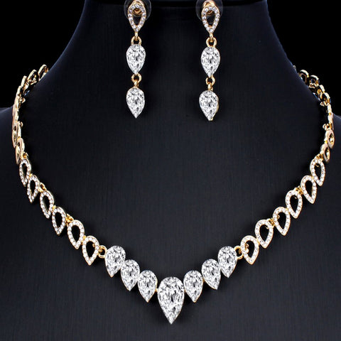 Bridal Prom Gold Jewelry Set JEW-AL45