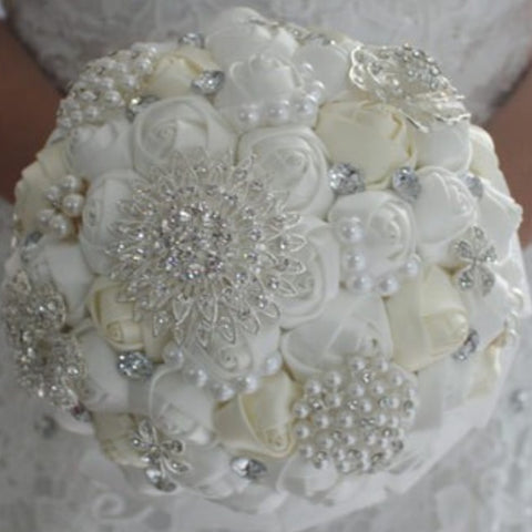 ROSA~EMR- Satin Rose Brooch Bouquet or DIY KIT