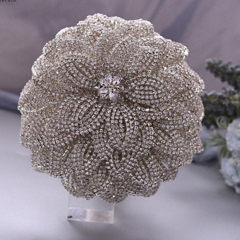 SKY ~ Luxury Brooch Bouquet Matching Boutonniere Lapel Pin