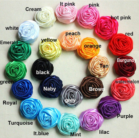 50pcs Deluxe Satin Roses DIY Bridal Bouquets SATIN-003