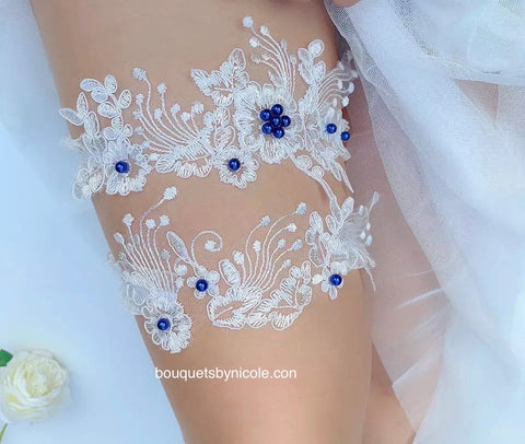 Wedding Bridal Garter Set ~ 001G