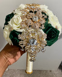 LOLO ~ Real Touch Roses Brooch Bouquet or DIY KIT