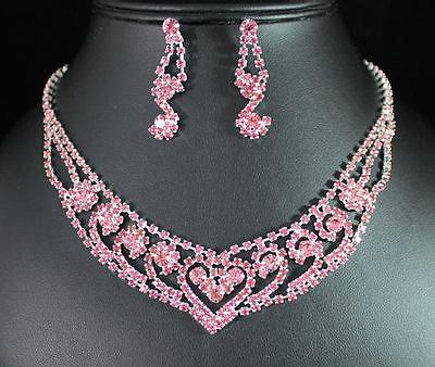 Bridal Prom Jewelry Set JEW-NN1150-Pink