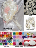 "9 -10"" DIY Kit Satin & Chiffon Roses Bouquet KIT- Chiffon"