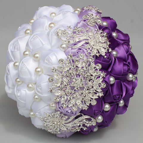 MINA Satin Roses Brooch Bouquet or DIY KIT ~ MINA