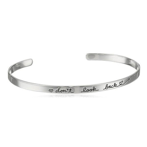 Inspire Jewelry DON'T LOOK BACK Bracelet Cuff