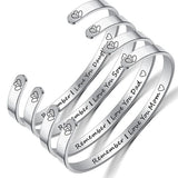 Inspire Jewelry REMEMBER I LOVE YOU MOM Bracelet Cuff