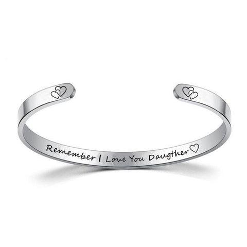 Inspire Jewelry REMEMBER I LOVE YOU DAUGHTER Bracelet Cuff