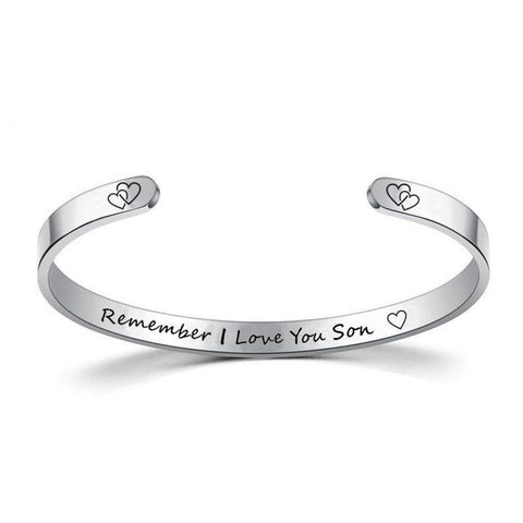 Inspire Jewelry REMEMBER I LOVE YOU SON Bracelet Cuff