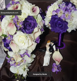 Customize Your Package Silk Roses Brooch Bouquet PACK- EVE