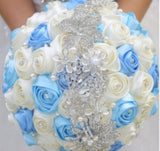 10pcs Satin Rose Brooch Bouquet PACK- 021