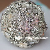 Luxury Beach Brooch Bouquet LUX-003