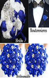 10pcs. Satin Rose Brooch Bouquet PACK- 007
