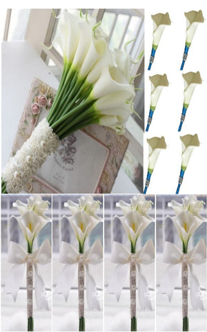 Real Touch Calla Lily Brooch Bouquet PACK- 009