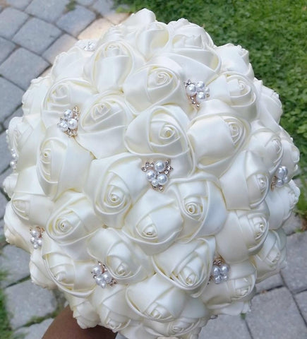 CHRISSY~EMR- Satin Rose Bouquet or DIY KIT