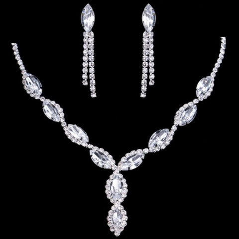 TRZ-012 Bridal Wedding Prom Jewelry Set