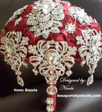 DAZZLE~BCUST Satin Rose Brooch Bouquet or DIY KIT
