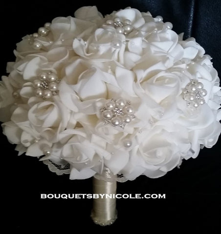 Real Touch Roses Brooch Bouquet EMR-FAY