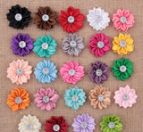 Fabric Flower Boutonniere, Men's Lapel Pin Formal Wear Wedding Prom BOUT-008