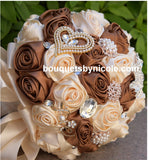 MONICA~ EMR Deluxe Satin Rose Brooch Bouquet or DIY KIT