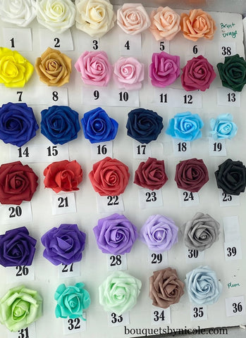 SAMPLE ~ Real Touch Foam Roses RT-001