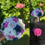 JENI Real Touch Roses Brooch Bouquet or DIY KIT