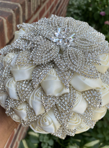 TIFF ~ Luxury Brooch Bouquet Matching Boutonniere Lapel Pin