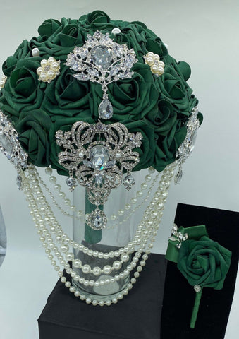 NITA ~ Real Touch Roses Brooch Bouquet or DIY KIT