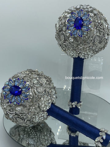 BLING ~ Luxury Round Brooch Bouquet or DIY KIT