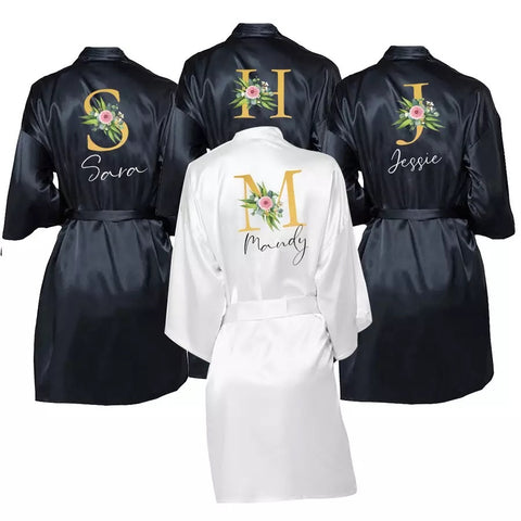 Bridal Bridesmaids Wedding Party Gifts Personalized Robes