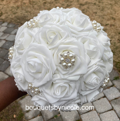 DANA - Real Touch Roses Brooch Bouquet or DIY KI T