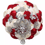 NIAN Satin Roses Brooch Bouquet or DIY KIT