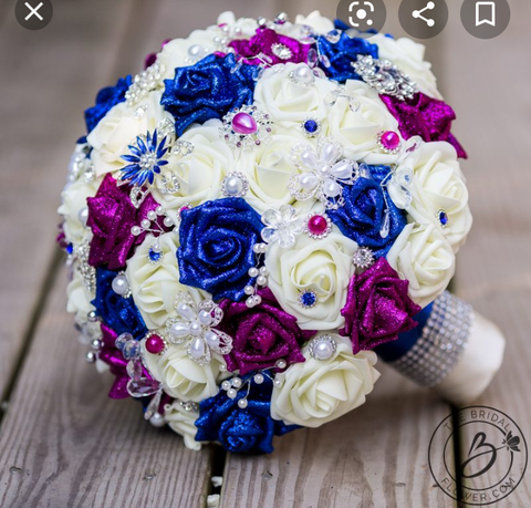 Private Sale Real Touch Roses Brooch Bouquet