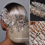 Bridal Hair Brooch Rhinestone HBR-034
