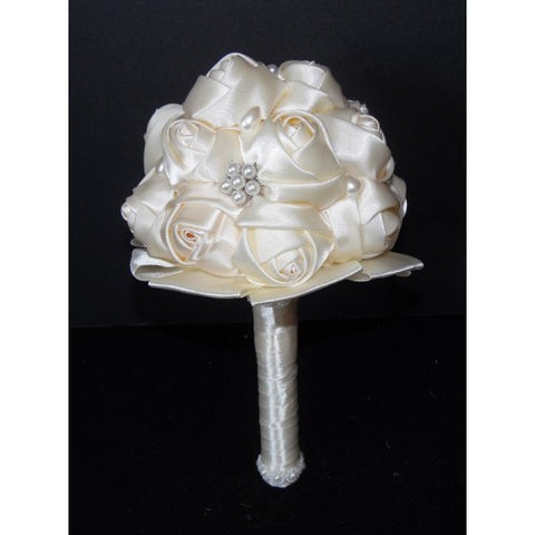 Satin Rose Brooch Bouquet Communion EMR-MILA