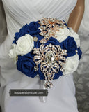 KENDRA II ~ Real Touch Roses Brooch Bouquet or DIY KIT