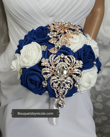 KENYA ~ Real Touch Roses Brooch Bouquet or DIY KIT