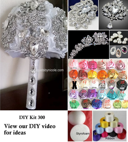 DIY Kit Brooch Bouquet KIT- LISA