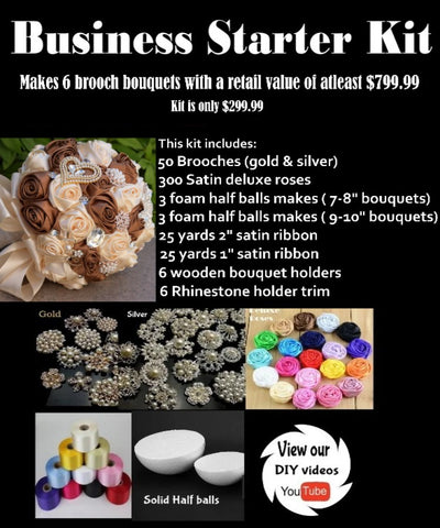 Deluxe Brooch Bouquet Business Starter DBKit-231