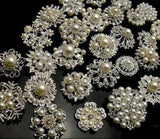 Rhinestone Pearl Brooches Lot BR-053
