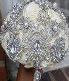 LIA~Satin Rose Brooch Bouquet or DIY KIT