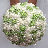 EVA~EMR Satin Rose Brooch Bouquet or DIY KIT
