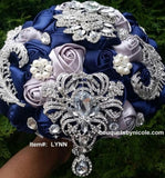 LYNN ~ Dallas Cowboys Satin Rose Brooch Bouquet BCUST