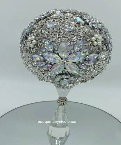 NORI ~ Luxury Brooch Bouquet Silver or Gold